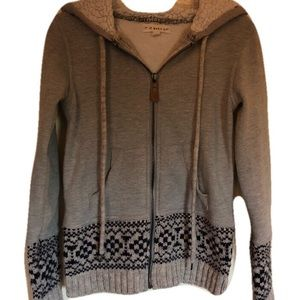 Anthropologie if it were me sweater full zip SZ S